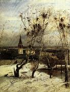 Aleksei Savrasov The Crows are Back oil painting