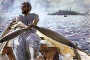 Anders Zorn Kaik oarsman oil painting reproduction
