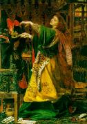 Anthony Frederick Augustus Sandys Morgan Le Fay (Queen of Avalon) oil painting