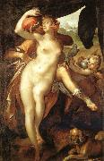 Bartholomeus Spranger Venus and Adonis oil painting reproduction