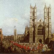 Canaletto Wastminster Abbey with the Procession of the Knights of the Order of Bath oil painting reproduction