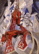 Delaunay, Robert Eiffel Tower or the Red Tower oil painting