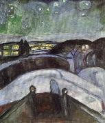 Edvard Munch Starry Night oil painting