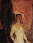 Edvard Munch Self Portrait in Hell oil painting