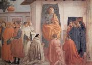 Fra Filippo Lippi Masaccio,St Peter Enthroned with Kneeling Carmelites and Others oil painting