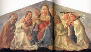 Fra Filippo Lippi Madonna of Humility with Angels and Carmelite Saints oil painting