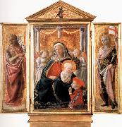 Fra Filippo Lippi Madonna of Humility with Angels and Donor,St john the Baptist,St Ansanus Cambridge,Fitzwilliam Museum. oil painting