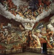 Giulio Romano The Giants Hurled Down from Olympus oil painting