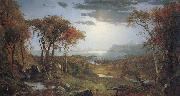 Jasper Cropsey Autumn on the Hudson River oil painting