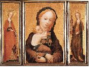 MASTER of Saint Veronica Triptych oil painting