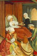 MASTER of the Pfullendorf Altar The Birth of Mary oil painting