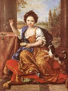 MIGNARD, Pierre Girl Blowing Soap Bubbles oil painting
