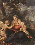 Pietro da Cortona Holy Family Resting on the Flight to Egypt oil painting reproduction