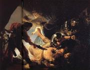 Rembrandt van rijn The Blinding of Samson oil painting reproduction