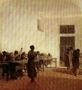 Telemaco signorini Department for Violent Female Mental Patients at San Bonifacio in Florence oil painting
