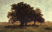 Theodore Roussel Oak Trees near Apremont oil painting reproduction