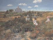 William Merrit Chase The Bayberry Bush oil painting