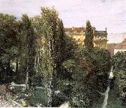 Adolph von Menzel The Palace Garden of Prince Albert oil painting