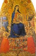 Ambrogio Lorenzetti Madonna and Child Enthroned with Angels and Saints oil painting