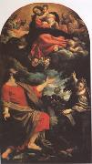 Annibale Carracci The VIrgin Appearing to ST Luke and ST Catherine (mk05) oil painting