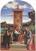 CARACCIOLO, Giovanni Battista The Virgin and Child between John the Baptist and Mary Magdalen (mk05) oil painting