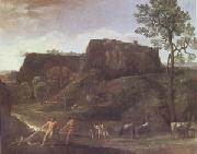 Domenichino Landscape with Hercules and Achelous (mk05) oil painting