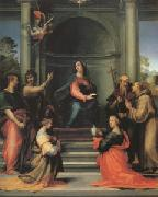Fra Bartolommeo The Annunciation with Saints Margaret Mary Magdalen Paul John the Baptist Jerome and Francis (mk05) oil painting