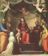 Fra Bartolommeo The Mystic Marriage of st Catherine of Siena,with Eight Saints (mk05) oil painting