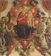 Francesco Botticini The Virgin and Child in Glory with (mk05) oil painting