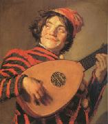 Frans Hals Jester with a Lute (mk05) oil painting