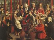 Gerard David The Marriage at Cana (mk05) oil painting reproduction