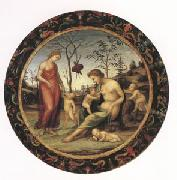Giovanni Sodoma Sacred and Profane Love with Anteros,Eros and Two Other Cupids (mk05) oil painting reproduction