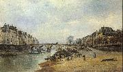 Lepine, Stanislas Quais of the Seine oil painting reproduction