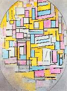 Piet Mondrian Composition with Oval in Color Planes II oil painting