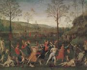 Pietro Vannuci called il Perugino The Combat of Love and Chastity (mk05) oil painting