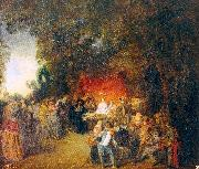 WATTEAU, Antoine The Marriage Contract oil painting reproduction