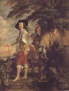 Anthony Van Dyck Portrait of charles i hunting (mk03) oil painting