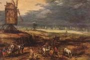 BRUEGHEL, Jan the Elder Landscape with Windmills (mk08) oil painting reproduction