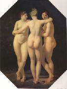 Baron Jean-Baptiste Regnault The Threrr Graces (mk05) oil painting