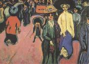 Ernst Ludwig Kirchner The Street (mk09) oil painting