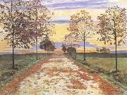 Ferdinand Hodler Autumn Evening (mk09) oil painting