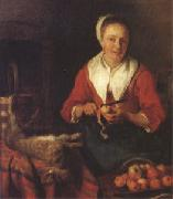 Gabriel Metsu The Busy Cook (nk05) oil painting