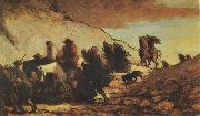 Honore  Daumier The Emigrants (mk09) oil painting reproduction