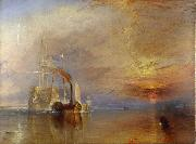 J.M.W. Turner The  Fighting Temeraire Tugged to het last berth to be Broken Up (mk09) oil painting