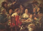 Jacob Jordaens The King Drinks Celebration of the Feast of the Epiphany (mk05) oil painting reproduction