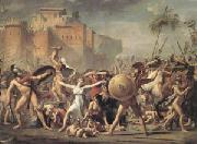 Jacques-Louis  David The Intervention of the Sabine Women (mk05) oil painting reproduction