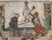 James Ensor Skeletons Fighting for the Body of a Hanged Man (mk09) oil painting