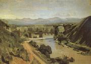 Jean Baptiste Camille  Corot The Bridge at Narni A study (mk05) oil painting