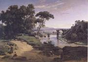 Jean Baptiste Camille  Corot Le pont d'Auguste a Narni (mk11) oil painting