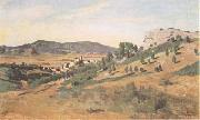 Jean Baptiste Camille  Corot Olevano Romano (mk11) oil painting